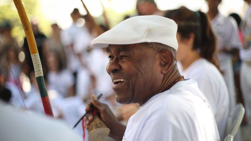 Le maître de Capoiera Angola, Joao Grande.