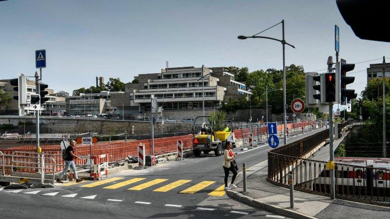Le pont du Mail restera à sens unique jusqu'à mi-novembre.