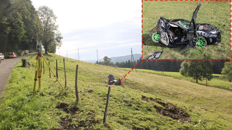 Jura: héliportés après une violente sortie de route