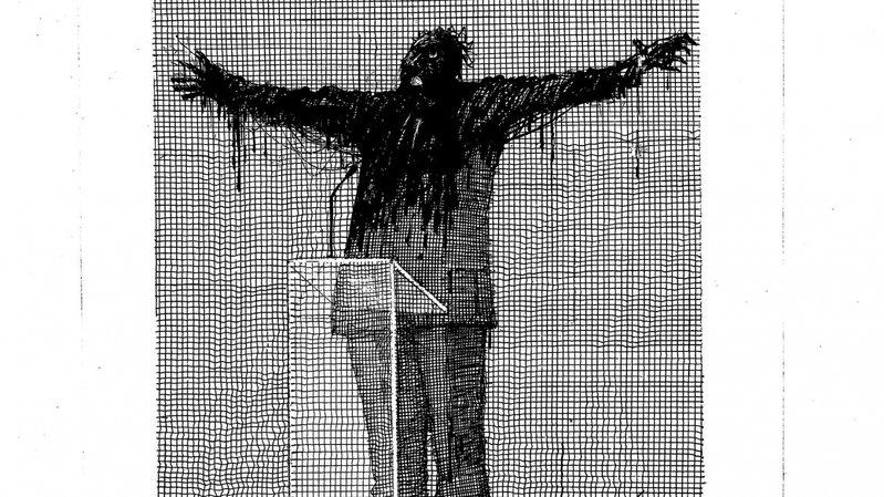 """Un si beau discours"" dessin de Martial Leiter."