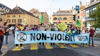 Neuchâtel: comment Extinction Rebellion a bloqué le centre-ville