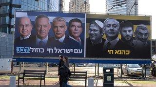 Israël: le Premier ministre Netanyahu et son rival Gantz à égalité