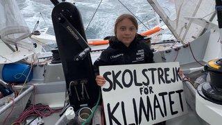 Climat: Greta Thunberg fête un an de «Grève du climat» à bord du voilier et accoste à New York mardi