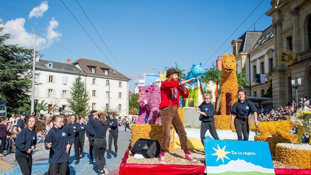 Corso fleuri de la Fête des vendanges en 2017.
