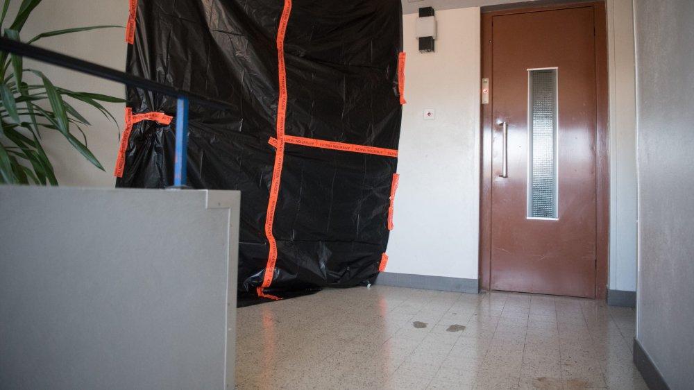 L'affreux crime a été perpétré dans un immeuble de la rue des Vieux-Patriotes,  à La Chaux-de-Fonds.
