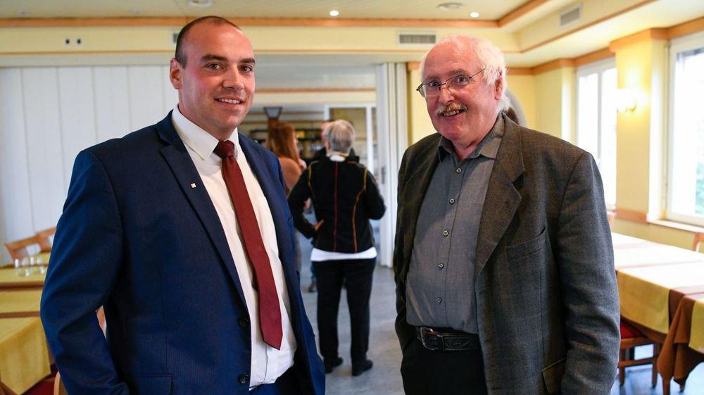 Walter Willener (à droite) et son poulain, Thierry Brechbühler, dimanche dernier.
