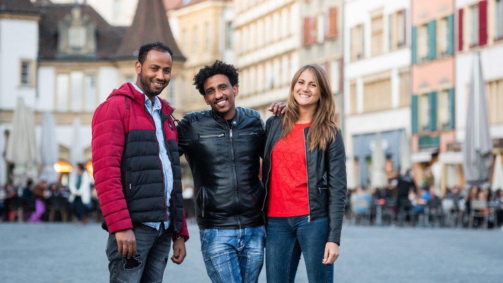 Goitom et Dawit ont fait beaucoup de chemin en une année, tout comme Calliope Immer l'association Be-hôme dont elle est membre.