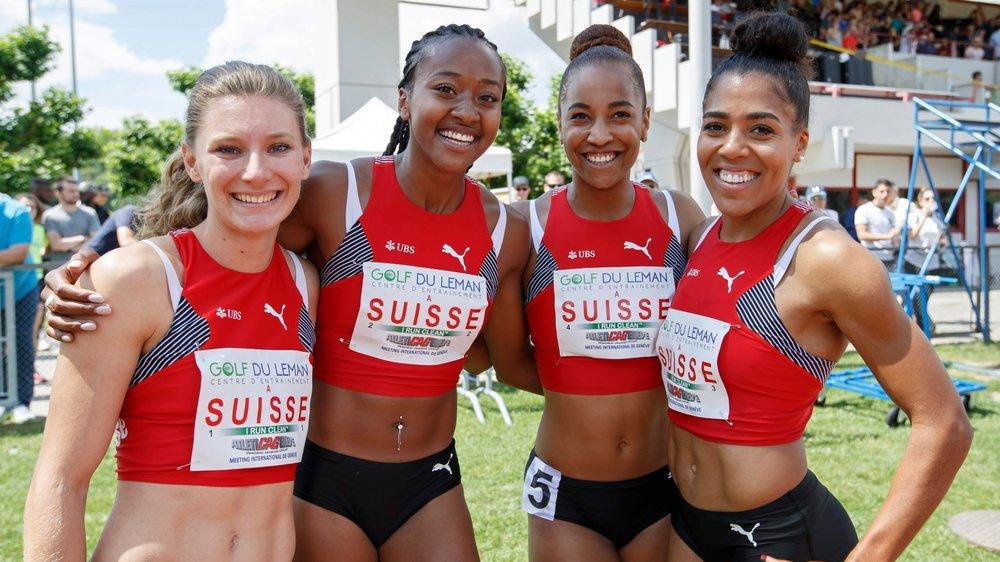 Cinquième des Mondiaux 2017, le relais suisse (Ajla Del Ponte, Salomé Kora, Sarah Atcho et Mujinga Kambundji, de gauche à droite), peut encore faire mieux à Doha.