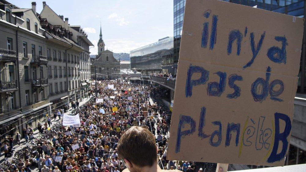 Jamais encore une manifestation pour le climat n'avait réuni autant de monde que les 100000 personnes annoncées par les organisateurs.