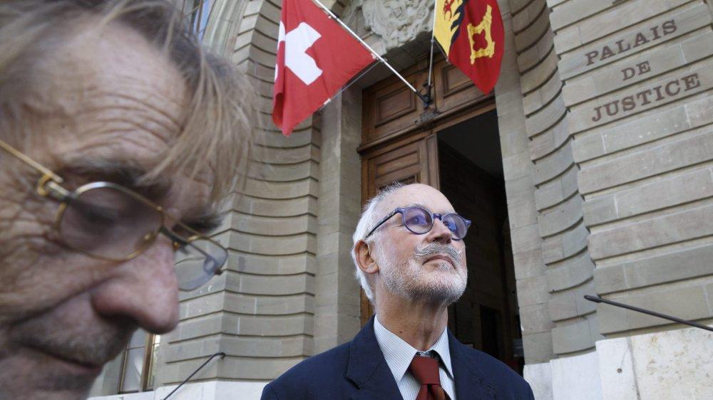Pierre Beck à la sortie du tribunal.