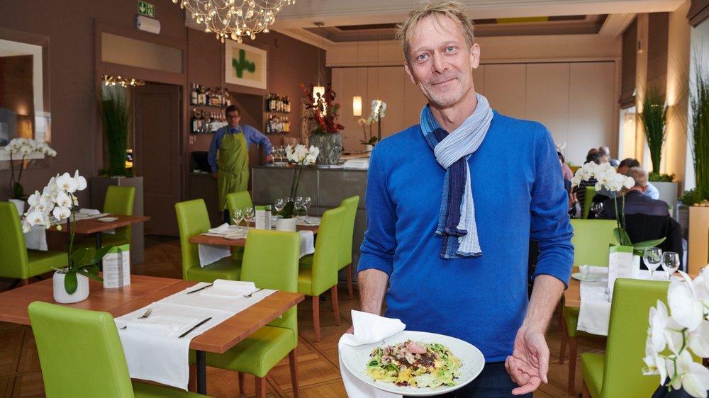 Marc-Antoine Kaeser a opté pour le menu du jour, avec du civet de sanglier comme plat principal.