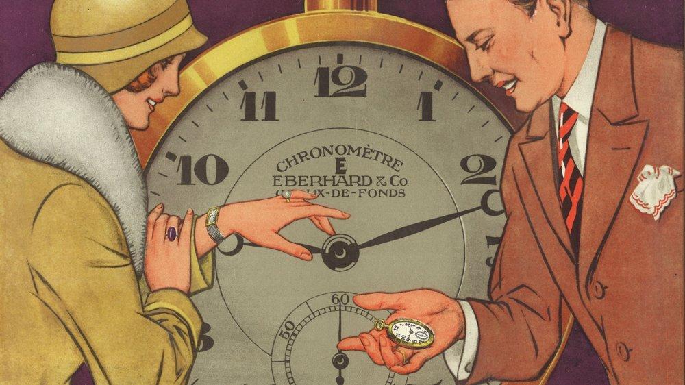 Une publicité de 1920 pour la marque Eberhard.