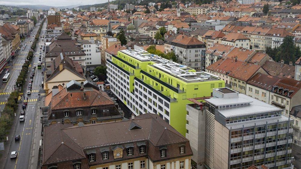 L'Ilot vert à La Chaux-de-Fonds.