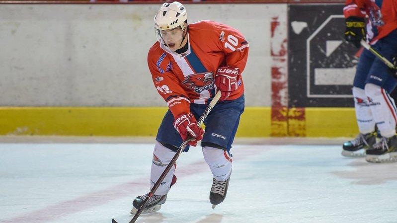 Kevin Marion a inscrit un des deux buts du HC Université Neuchâtel contre Vallée de Joux.