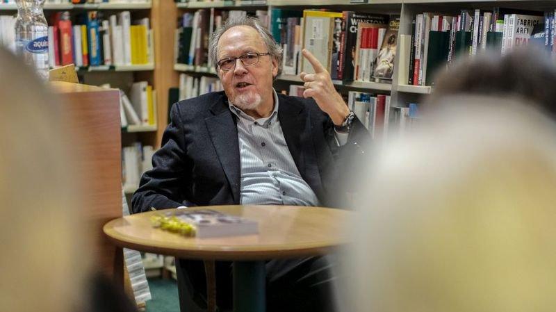 Dick Marty lors d'un passage à Neuchâtel, en décembre 2018.