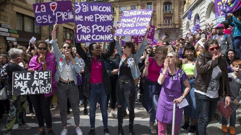 Manifestation des femmes le 14 juin 2019 à Neuchâtel.