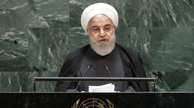 Le président iranien Rohani à la tribune de l'ONU la semaine dernière.