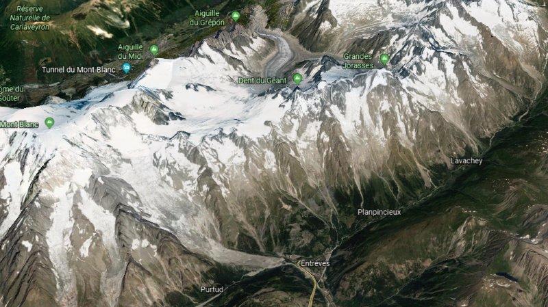 Le glacier de Planpincieux, sur le versant italien du Mont-Blanc, menace de s'effondrer. Deux routes fermées.