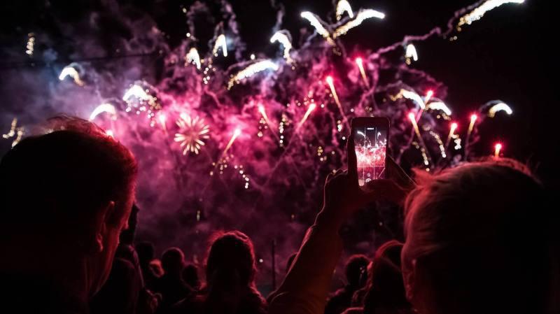 Spectacle pyromelodique de la fete des vendanges de Neuchâtel, le 28 septembre 2019
