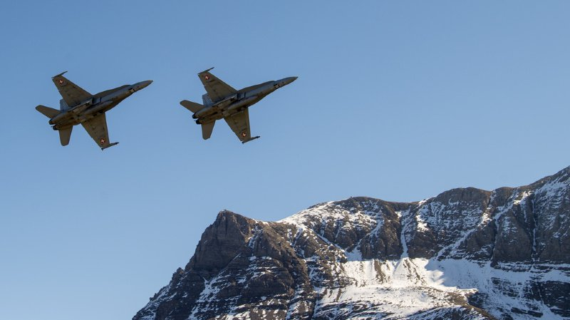 La grand-messe des forces aériennes suisses était prévue jeudi et vendredi dans les montagnes bernoises (archives).