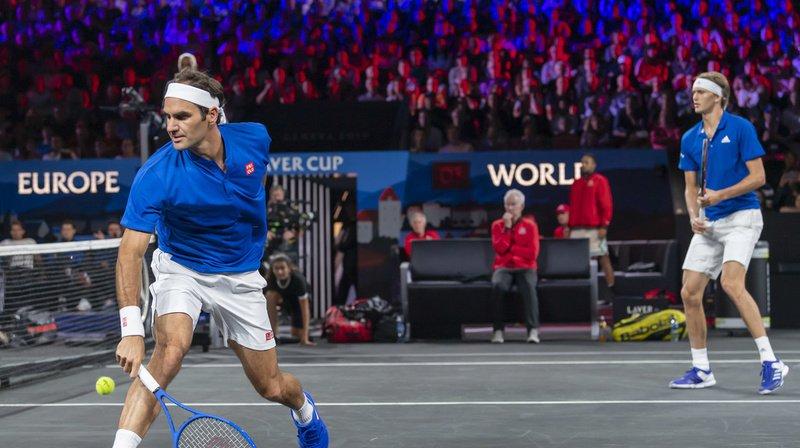 Roger Federer et Alexander Zverev ont joué lors du dernier match de la soirée à Palexpo.