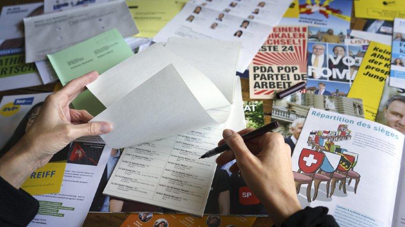A 11 jours des fédérales, la droite traditionnelle continue de s'effriter au profit des partis verts (illustration).