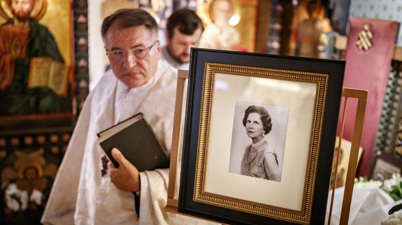Un service religieux a eu lieu en l'honneur du départ du corps de la reine.