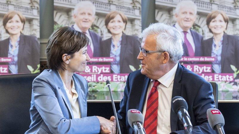 Le camp rose-vert fait front commune pour le deuxième tour avec Regula Rytz, présidente des Verts suisse, et le conseiller aux Etats socialiste sortant Hans Stöckli.