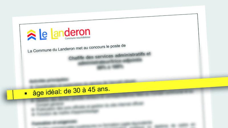 Le Landeron: préciser «l'âge idéal» dans une offre d'emploi n'est pas discriminatoire