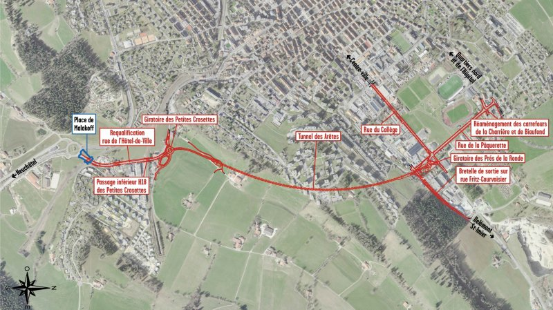 Tunnel de contournement de La Chaux-de-Fonds: la Ville et le canton face aux oppositions