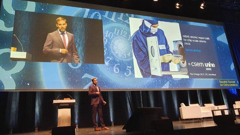 Sylvain Karlen lors d'un meeting à Montreux.