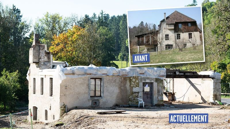 Valangin: le moulin de la Borcarderie décapité sans autorisation