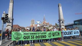 Lausanne: bloqué par des militants du climat durant la journée, le pont Bessières est rouvert