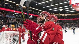 Hockey sur glace: Bienne solide leader, le LHC sur le podium en National League