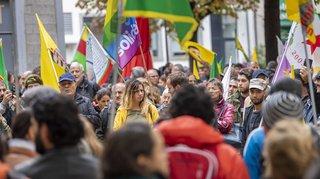Genève: un millier de manifestants pro-kurdes ont dénoncé l'invasion turque en Syrie