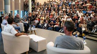 Didier Cuche et  Roland Collombin attirent la foule