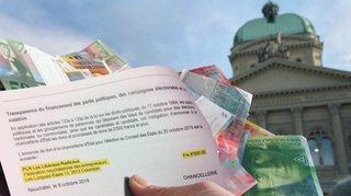 Un seul parti neuchâtelois a annoncé un don de plus de 5000francs pour les fédérales