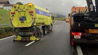 Accident de camion: A9 entre Vevey et Montreux rouverte