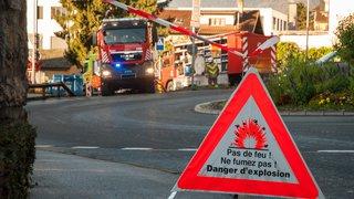 Fuite de gaz sur la rue de la Gare à Peseux