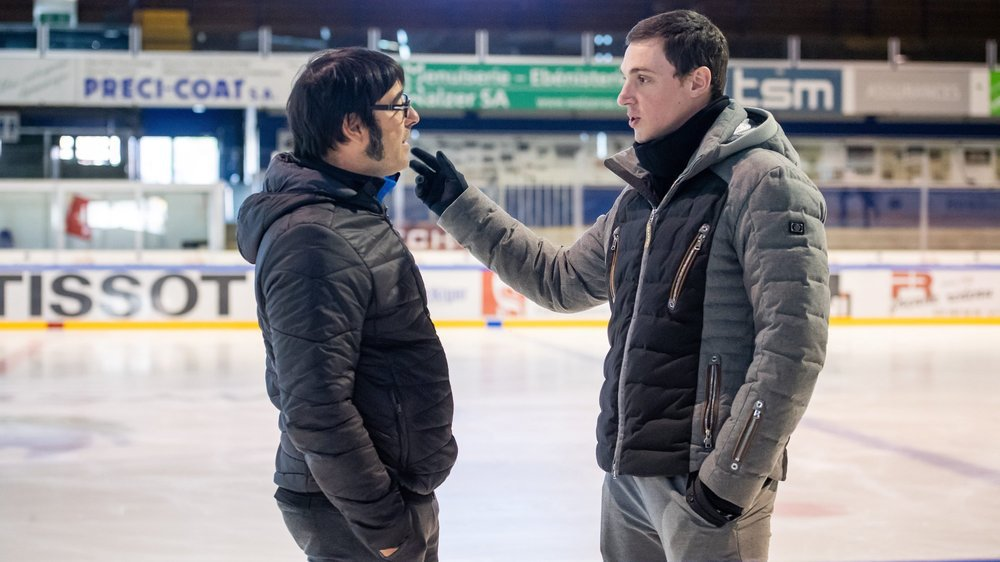 Bruno Massot (à droite), ici en conversation avec Jean-François Ballester en novembre 2018, a quitté les Mélèzes.