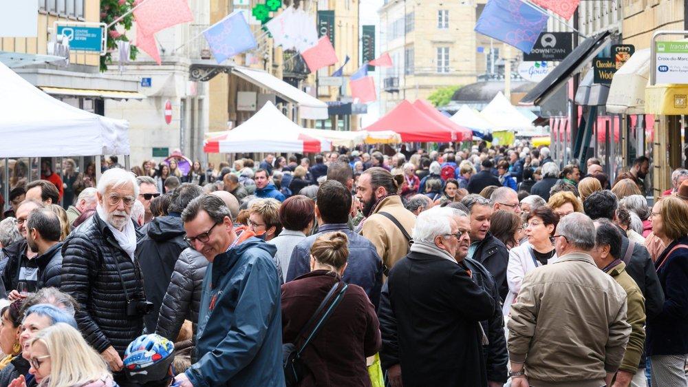 Les festivités des 40 ans de la zone piétonne de Neuchâtel ont eu du succès.