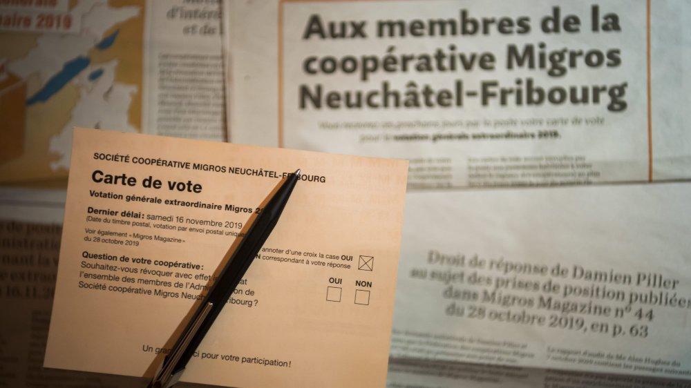 """La carte de vote du scrutin de la Migros était à renvoyer telle quelle, avec seulement une croix pour le """"oui"""" ou le """"non"""""""