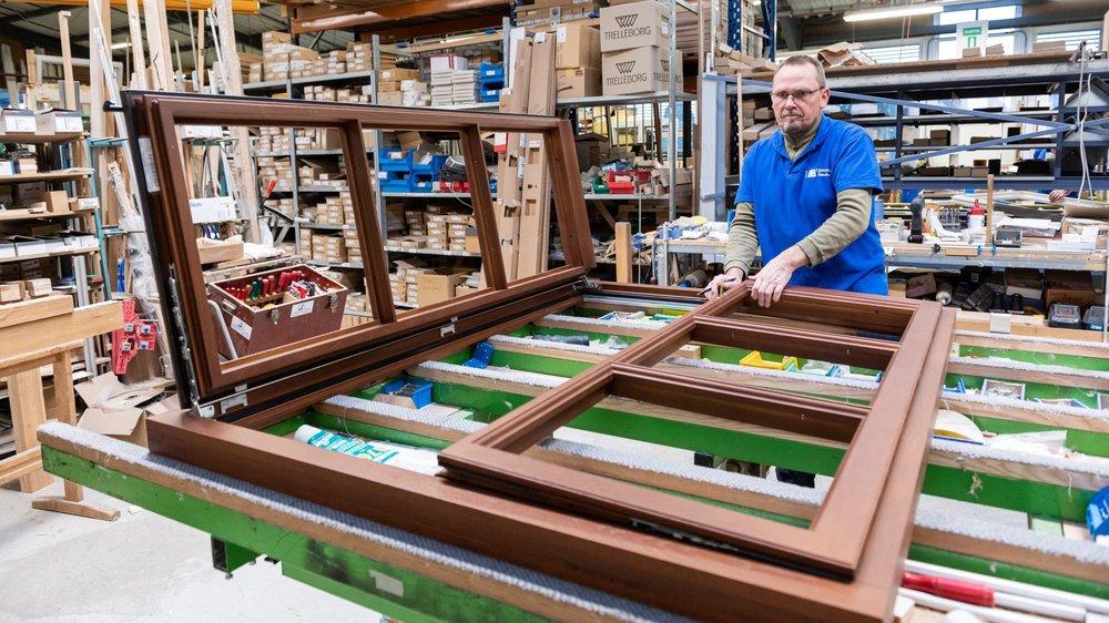 Toutes les fenêtres portant la marque Gindraux sont fabriquées dans l'usine de Saint-Aubin. Y compris les plus sophistiquées.