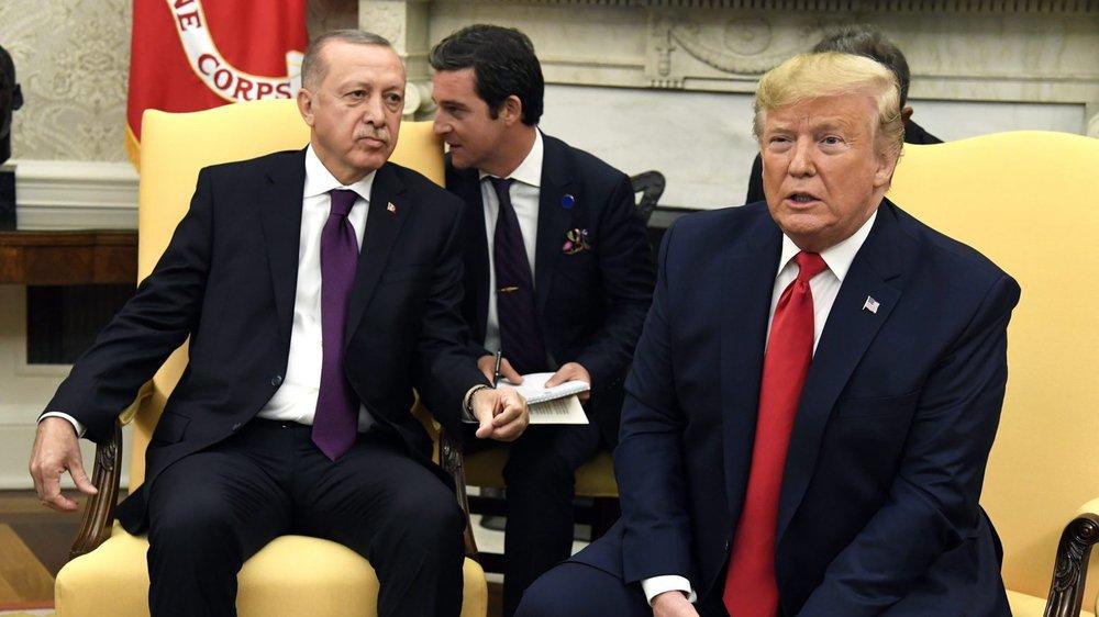 Selon toutes les apparences, Erdogan (à gauche) et Trump s'entendent bien.