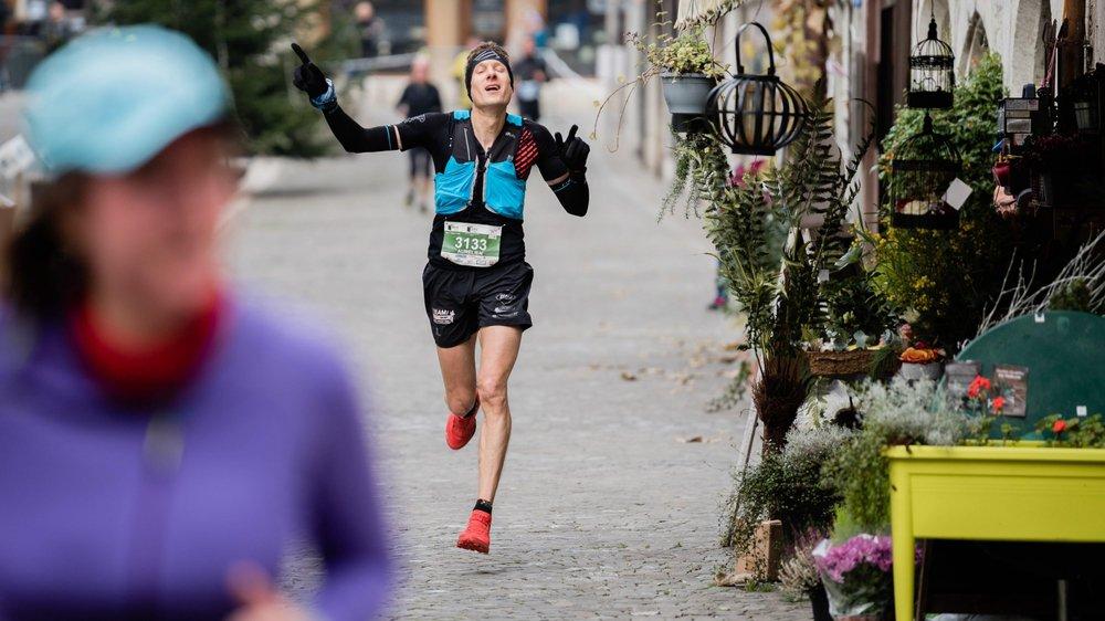 Aurélien Charité, vainqueur du Trail de 7 Lieues.