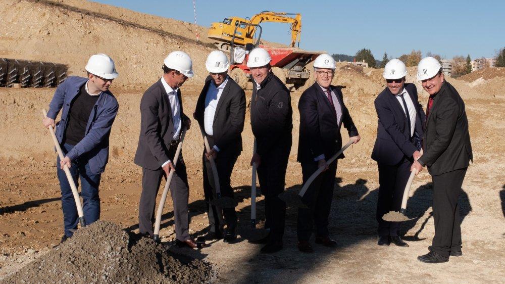 Les autorités misent sur le développement de la zone d'activité des Saignoles, ici lors de la pose de la première pierre de la manufacture Audermars-Piguet, il y a un an.
