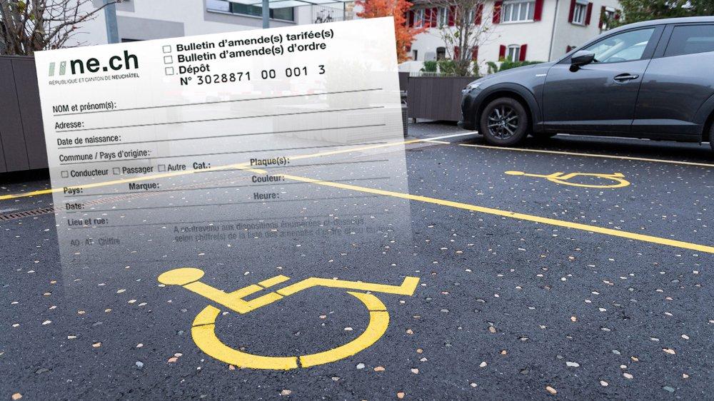 Il n'y aura plus d'amendes dites tarifées, par exemple lors d'un parcage illicite sur une place pour handicapés.