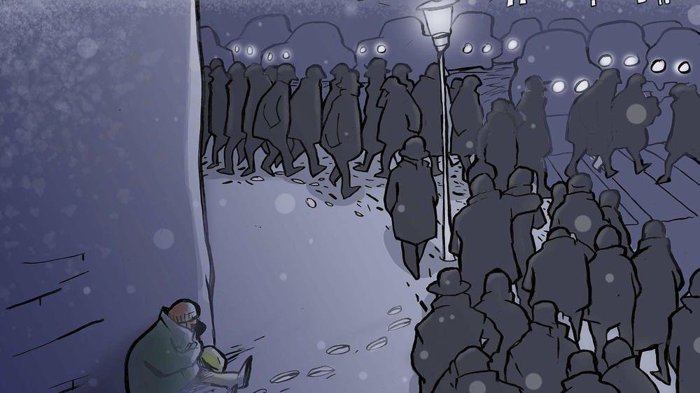 «Une pierre dans l'ombre de la nuit»: le conte de Noël de David Ruiz Martin