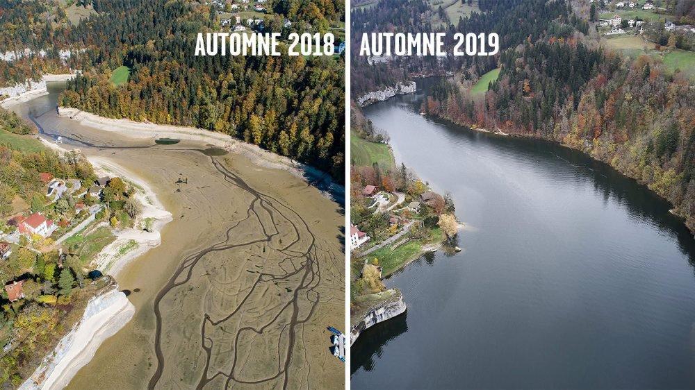 Une année sépare ces deux photos: le contraste est impressionnant.