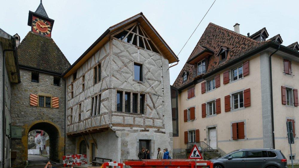 Cet édifice est le plus ancien du canton, encore complet, qui possède une telle technique de colombages.